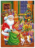 Eberle, Comics, CHRISTMAS SANTA, SNOWMAN, paintings, DTPC56,#X# Weihnachten, Navidad, illustrations, pinturas