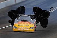 Apr. 3, 2009; Las Vegas, NV, USA: NHRA funny car driver Bob Bode during qualifying for the Summitracing.com Nationals at The Strip in Las Vegas. Mandatory Credit: Mark J. Rebilas-