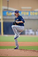Montgomery Biscuits starting pitcher Sam McWilliams (36) during a Southern League game against the Biloxi Shuckers on May 8, 2019 at MGM Park in Biloxi, Mississippi.  Biloxi defeated Montgomery 4-2.  (Mike Janes/Four Seam Images)