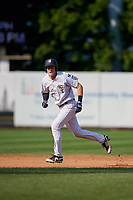 Staten Island Yankees first baseman Eric Wagaman (22) runs the bases during a game against the Lowell Spinners on August 22, 2018 at Richmond County Bank Ballpark in Staten Island, New York.  Staten Island defeated Lowell 10-4.  (Mike Janes/Four Seam Images)