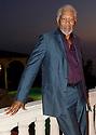 Actor Morgan Freeman at an Ocena fundraising event on 7/28/12