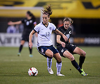 Lauren Holiday, Helen Collins. The USWNT tied New Zealand, 1-1, at an international friendly at Crew Stadium in Columbus, OH.