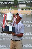 Matteo Manassero (ITA) after winning on the final day of the Barclays Singapore Open, Sentosa Golf Club, Singapore. 11/11/12..(Photo Jenny Matthews/www.golffile.ie)