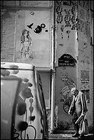 France, Paris, 75011, Ménilmontant, Graffitis Rue Crespin du Gast //   France, Paris, Menilmontant, Graffitis Rue Crespin du Gast