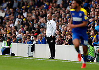 4th September 2021; Merton, London, England;  EFL Championship football, AFC Wimbledon versus Oxford City: AFC Wimbledon Manager Mark Robinson looks on from the touchline
