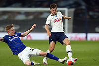 Anthony Gordon of Everton and Ben Davies of Tottenham Hotspur during Tottenham Hotspur vs Everton, Premier League Football at Tottenham Hotspur Stadium on 6th July 2020