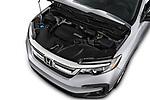 Car stock 2020 Honda Pilot LX 5 Door SUV engine high angle detail view