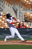 Glendale Desert Dogs shortstop Chan Jong Moon (39) at bat during an Arizona Fall League game against the Surprise Saguaros on October 24, 2015 at Camelback Ranch in Glendale, Arizona.  Surprise defeated Glendale 18-3.  (Mike Janes/Four Seam Images)