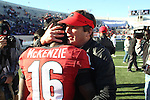 December 30, 2016: Georgia Bulldogs head coach Kirby Smart and Isaiah McKenzie (16) celebrating the victory over the TCU Horned Frogs in the AutoZone Liberty Bowl at Liberty Bowl Memorial Stadium in Memphis, Tennessee. ©Justin Manning/Eclipse Sportswire/Cal Sport Media