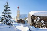 Austria, Tyrol, ski resort Going with village church | Oesterreich, Tirol, Going am Wilden Kaiser mit Dorfkirche zum heiligen Kreuz