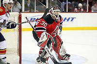 Goalie Martin Brodeur (Devils)<br /> New Jersey Devils vs. Florida Panthers<br /> *** Local Caption *** Foto ist honorarpflichtig! zzgl. gesetzl. MwSt. Auf Anfrage in hoeherer Qualitaet/Aufloesung. Belegexemplar an: Marc Schueler, Am Ziegelfalltor 4, 64625 Bensheim, Tel. +49 (0) 6251 86 96 134, www.gameday-mediaservices.de. Email: marc.schueler@gameday-mediaservices.de, Bankverbindung: Volksbank Bergstrasse, Kto.: 151297, BLZ: 50960101