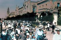 San Diego: Panama-California Exposition, 1915. Tinted, blown-up photo,Balboa Park 1985.