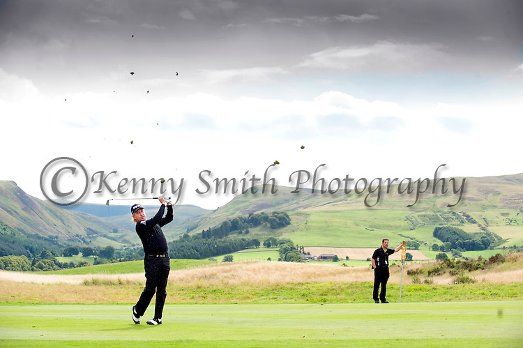 Pic Kenny Smith...... Tel 07809 450119.Johnnie Walker Championship, PGA Course Gleneagles, Day 2..Miguel Angel Jimenez plays an iron into the 3rd green