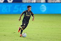 CARSON, CA - SEPTEMBER 06: Latif Blessing #7 of LAFC turns up field with the ball during a game between Los Angeles FC and Los Angeles Galaxy at Dignity Health Sports Park on September 06, 2020 in Carson, California.
