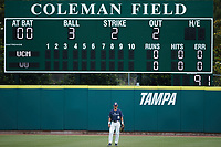 Wingate Bulldogs right fielder Cameron Carraway (31) on defense against the Central Missouri Mules during the 2021 DII Baseball National Championship at Coleman Field at the USA Baseball National Training Complex on June 12, 2021 in Cary, North Carolina. The Bulldogs defeated the Mules 5-3. (Brian Westerholt/Four Seam Images)