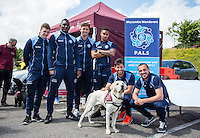 Wycombe Players during the Wycombe Wanderers 2016/17 Kit launch to the Public at Adams Park, High Wycombe, England on 10 July 2016. Photo by Andy Rowland.
