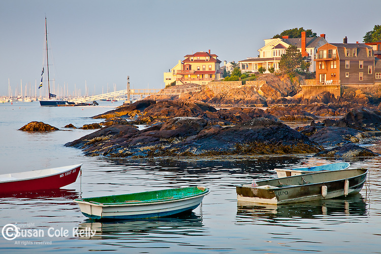 Morning light in Marblehead Harbor, Marblehead, MA, USA