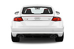 Straight rear view of 2016 Audi TTS - 2 Door coupe Rear View  stock images