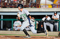 Jack Reinheimer #29 of the Clinton LumberKings swings against the Burlington Bees at Community Field  on July 3, 2014 in Burlington, Iowa. The Bees defeated the LumberKings 6-5.   (Dennis Hubbard/Four Seam Images)