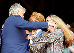 August 07, 2021: Trainer Steve Asmussen and his family celebrate at Saratoga Race Course in Saratoga Springs, N.Y. as horse Stellar Tap #7,  and jockey Ricardo Santana Jr win the 5th race giving him win #9,446 making Steve Asmussen the all-time leading trainer by wins on August 7, 2021. Dan Heary/Eclipse Sportswire/CSM