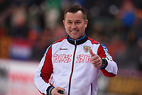 SPEEDSKATING: HAMAR: 01-03-2020, ISU World Speed Skating Championships, Allround, 1500m Ladies, Pavel Abratkiewicz (Coach Russia), ©photo Martin de Jong