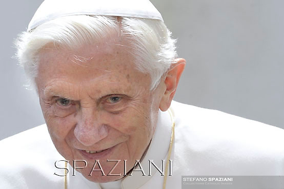 Pope Benedict XVI during his weekly general audience in St. Peter square at the Vatican, Wednesday.23 May, 2012