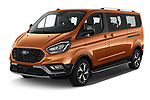 2021 Ford Tourneo-Custom Active 5 Door Passenger Van Angular Front automotive stock photos of front three quarter view