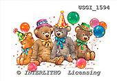 GIORDANO, CUTE ANIMALS, LUSTIGE TIERE, ANIMALITOS DIVERTIDOS, Teddies, paintings+++++,USGI1594,#AC# teddy bears