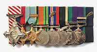 BNPS.co.uk (01202) 558833<br /> Pic: MarlowsAuctioneers/BNPS<br /> <br /> Pictured: Flt Lt Sparks' medals, including a prestigious Air Force Cross, are going under the hammer with Marlows Auctioneers, of Stafford, Staffs.<br /> <br /> The medals of a hero of the legendary Operation Jericho raid who dive-bombed the enemy from 10ft during a daring attack on a Gestapo prison have emerged for sale for £6,000.<br /> <br /> Flight Lieutenant Maxwell Sparks pulled off the daring manoeuvre during the daylight attack on the heavily-defended Amiens Prison in Northern France in February 1944.<br /> <br /> Positioned third in the attack's first wave, he flew at 'tree-top height' while bombarding the German guards' quarters, before ascending just in time to miss the prison's roof.