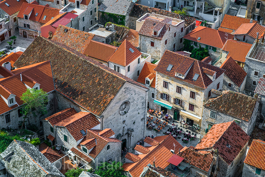 Ormis is a quaint fishing village a short drive south of Split, Croatia.  In the center of the old town area is this open market area.