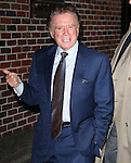 """New York, Jan. 12, 2012: Television personality Regis Philbin visits """"Late Show with David Letterman"""" at Ed Sullivan Theatre on January 12, 2012 in New York City"""