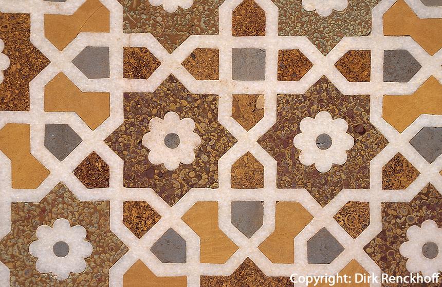 Indien, Uttar Pradesh, Agra, Itimad-ut-Daula, Grabmal erbaut 1628, Detail