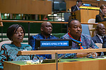 General Assembly Seventy-fourth session, 7th plenary meeting<br /> <br /> <br /> His Excellency Félix Antoine Tshilombo Tshisekedi, President, Democratic Republic of<br /> the Congo
