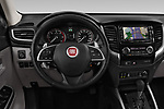 Car pictures of steering wheel view of a 2018 Fiat Fullback Cross Techno 4 Door Pick Up