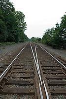 Parallel railroad tracks<br />