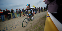 Paris-Roubaix 2012 ..Juan Antonio Flecha chasing Tom Boonen
