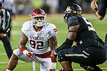 Oklahoma Sooners defensive tackle Matthew Romar (92) in action during the game between the Oklahoma Sooners and the Baylor Bears at the McLane Stadium in Waco, Texas. OU defeats Baylor 44 to 34.