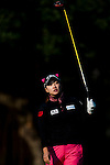 Ran Hong of Korea in action during the Hyundai China Ladies Open 2014 on December 13 2014 at Mission Hills Shenzhen, in Shenzhen, China. Photo by Xaume Olleros / Power Sport Images