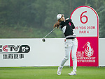 Min Sun Kim of South Korea tees off at the 6th hole during Round 4 of the World Ladies Championship 2016 on 13 March 2016 at Mission Hills Olazabal Golf Course in Dongguan, China. Photo by Victor Fraile / Power Sport Images