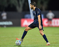 LAKE BUENA VISTA, FL - JULY 26: Ilie Sánchez of Sporting KC looks for options during a game between Vancouver Whitecaps and Sporting Kansas City at ESPN Wide World of Sports on July 26, 2020 in Lake Buena Vista, Florida.