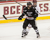 Bryan Lemos (PC - 24), JD Dudek (BC - 15) - The Boston College Eagles defeated the visiting Providence College Friars 3-1 on Friday, October 28, 2016, at Kelley Rink in Conte Forum in Chestnut Hill, Massachusetts.The Boston College Eagles defeated the visiting Providence College Friars 3-1 on Friday, October 28, 2016, at Kelley Rink in Conte Forum in Chestnut Hill, Massachusetts.
