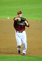 Jun. 22, 2010; Phoenix, AZ, USA; Arizona Diamondbacks shortstop Stephen Drew against the New York Yankees at Chase Field. Mandatory Credit: Mark J. Rebilas-