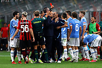 Maurizio Sarri coach of SS Lazio is sent off from the referee Daniele Chiffi during the Serie A 2021/2022 football match between AC Milan and SS Lazio at Giuseppe Meazza stadium in Milano (Italy), August 29th, 2021. Photo Image Sport / Insidefoto