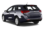Car pictures of rear three quarter view of a 2014 KIA cee'd Access 5 Door Wagon 2WD Angular Rear