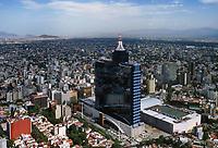 aerial photograph of the World Trade Center tower also known by its old name, Hotel de Mexico, Mexico City, Mexico | fotografía aérea de la torre del World Trade Center, también conocida por su antiguo nombre, Hotel de México, Ciudad de México, México