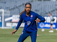 CHICAGO, IL - OCTOBER 5: Jess McDonald #22 of the United States looks to the ball at Soldier Field on October 5, 2019 in Chicago, Illinois.