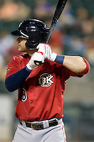 Oklahoma CIty 1B Chris Davis on Tuesday August 24th, 2010 at the Dell Diamond in Round Rock, Texas.  (Photo by Andrew Woolley / Four Seam Images)