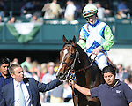 Divining Rod and jockey Julien Leparoux win the Coolmore Lexington at Keeneland for owner Lael Stable and trainer Arnaud Delacour
