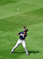 23 August 2009: Milwaukee Brewers' center fielder Mike Cameron in action against the Washington Nationals at Nationals Park in Washington, DC. The Nationals defeated the Brewers 8-3 to take the third game of their four-game series, snapping a five games losing streak. Mandatory Credit: Ed Wolfstein Photo