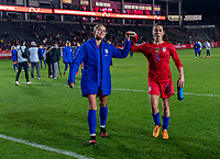 CARSON, CA - FEBRUARY 7: Abby Dahlkemper #6 and Kelley O'Hara #5 of the United States walk off the field during a game between Mexico and USWNT at Dignity Health Sports Park on February 7, 2020 in Carson, California.
